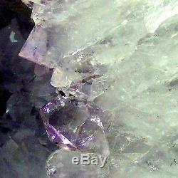 Grotte Naturelle De Géode 11.8kg 32cm De Grappe De Cristal De Quartz De Cathédrale D'améthyste