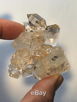 Groupe De Cristaux Herkimer Diamond Quartz Authentiques 10 + Pc Grande Clarté, Esthétique