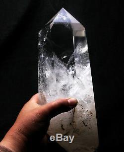 Guérison Approximative En Cristal De Grappe De Point De Grande Grappe Lémurienne Claire Naturelle De Quartz
