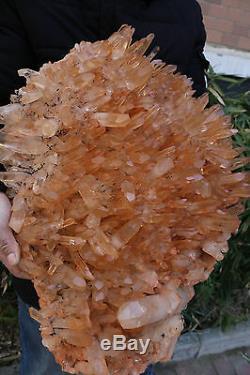 Haut! Spécimen D'origine De Groupe De Cristaux Quartz Naturel Clair, 57,5 lb
