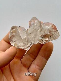 Herkimer Diamant Cristal De Quartz Cluster 7 + Pc, Nice Clarté Et Luster, Rainbows