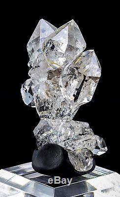 Herkimer Grappe De Quartz Avec 10 Cristaux De La Mine Ace Of Diamonds