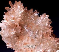 Impressionnant! Ange Elestial Dragon Cluster Quartz Lémurien Rose