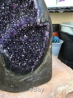 L'agate Uruguayen Druzy Amethyst Geode Cluster Quartz Crystal Agate