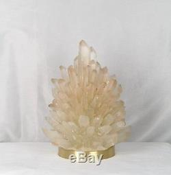 Lampe De Table De Grappe De Cristal De Roche Liberty Healing Pointer Quartz Lighting