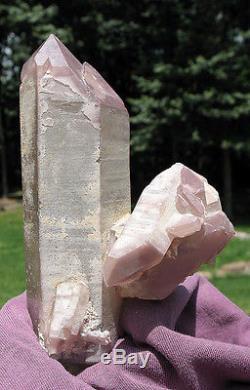 Lithium Naturel Inclus Quartz À Double Terminaison Crystal Cluster