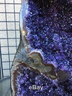 Magnifique Agate De Cristal De Quartz Amode Améthyste Pourpre Pourpre