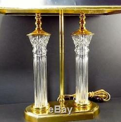 Merveilleux Waterford Crystal Parkmore 25 2 Lumière Cluster Bureau Ou Lampe De Table