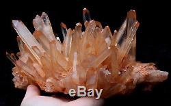 Naturel Rare Belle Peau Rouge Quartz Cluster Cristal Tibetan Specimen 5.1lb