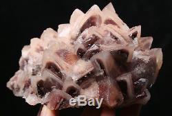 Naturel Rouge Triangular Phantom Calcite Cristal Cluster Minéral Échantillons / Chine