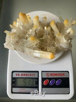 Nouvelle Recher Mango Quartz Cluster Boyaca Muzo Colombie Cabiche Halloysite Corona