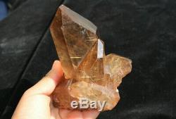 Pince Originale En Cristal De Quartz Rutile, Cheveux Dorés, 702g - Se Lever