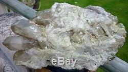 Pointes De Cristal Aura Quartz Vert Pomme Grand Traité 4.061 KG