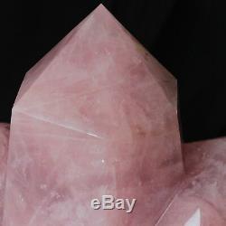 Points Rose 195lb Énorme Rose Naturel Cristal De Quartz Cluster Cut Guérison Poli