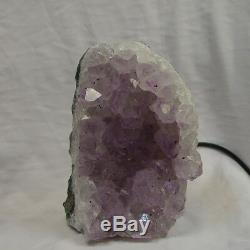 Purple Amethyst Electric Lamp 08 Grappe De Cristal De Quartz Natural & Pure One-off