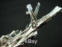 Qualité Musée Brillante Stibnite Cristal Cluster Minéral Spécimen