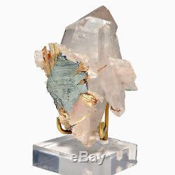 Quartz Avec Hématite Et Rutile Soutien-gorge En Cluster À Cristaux Naturels De 3,18 Pouces Et 118 Grammes
