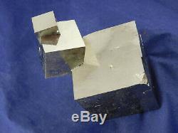 Quatre! 100% Naturel Enlacés Pyrite Cristal Cubes! Dans Un Immense Cluster Espagne 464gr