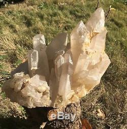 Rare Énorme 10.28kg Collecteurs Clusters De Cristal De Quartz Lémurien Clair Naturel