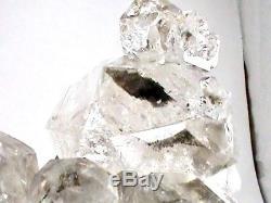 Rare Énorme 180x130x62 MM Ny Herkimer Diamant Cristal Quartz Chaîne Cluster El1
