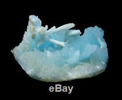 Rare! Spécimen Minéral De Grappe De Cristal Bleu D'aragonite De Beauté Naturelle / Chine