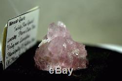 Rose Quartz Crystal Cluster Rare (variété Rose Quartz) Du Brésil
