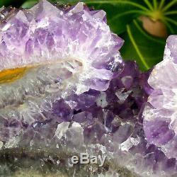Sombre Améthyste Cluster Geode Extra Large Cristal De Quartz 2,1 KG 19cm Partie Poli