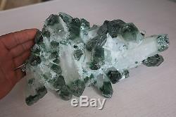 Spécimen Cluster Cristal Quartz Vert Naturel 3010g # 01