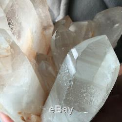 Spécimen Curatif Approximatif De Groupe De Cristal Blanc De Quartz De 4,3lb Grand Groupe De Cristal Blanc Clair