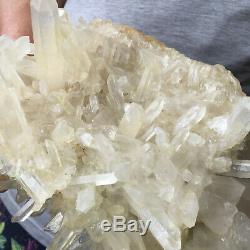 Spécimen Curatif Approximatif De Groupe De Cristal Blanc De Quartz De 5.5lb Grand Clair Blanc