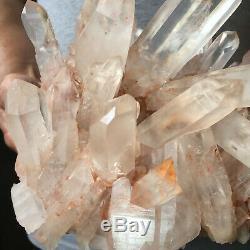 Spécimen Curatif Approximatif De Groupe De Cristal Rose De Quartz Rose Clair Naturel De 5,0lb