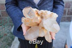 Spécimen De Cluster De Cristal De Quartz Clair De 7860g, Naturel, Tibet H002