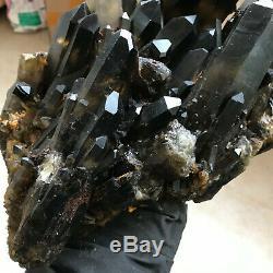 Spécimen De Cristal De Quartz Grappe Guérison 18.5lb Naturelles