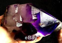 Spécimen De Cristal De Quartz Squelettique D'améthyste Super Seven De 1230 G