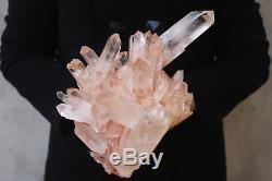 Spécimen De Grappe De Cristal De Quartz Clair De 2420g De Graines De Lémurien Naturel