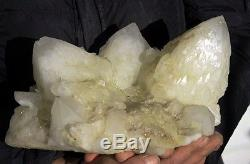 Spécimen De Grappe De Quartz Quartz Blanc Naturel De 16,40 Lb