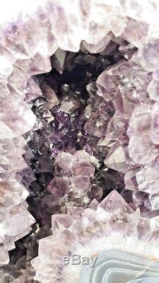Spécimen De Grappes Naturelles Brésil 10 De La Cathédrale Améthyste Géode Cristal Quartz