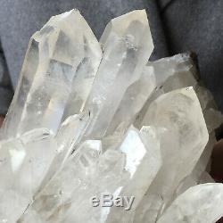 Spécimen De Guérison Approximative, Groupe De Cristaux De Quartz Blanc, Clair, Naturel, 5.6lb
