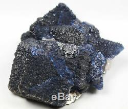 Spécimen De Matrice Minérale Fine De Qualité Musée Musée De Quartz De Quartz Bleu De Fluorite