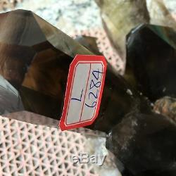 Spécimen En Cristal De Groupe De Quartz Citrine Enfumé Naturel 22.17lb Guérissant L6284