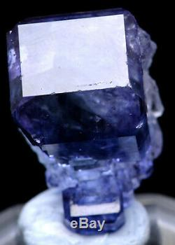 Spécimen Minéral De Grappe De Cristal De Quartz Fluorite Pourpre, 12,9 G, Naturel