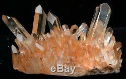 Spécimen Minéral De Grappe De Cristal De Quartz Rose Naturel Magnifique De 2.86lb