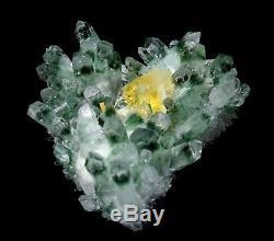 Spécimen Minéral De Point De Cluster De Cristal De Quartz De Fantôme Vert Clair De La Beauté 4.5lb