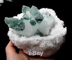 Spécimen Minéral En Grappes De Cristal Fantôme 815,6g Vert Guérir