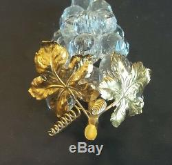 Superbe Figurine À Grappes De Raisins En Or Et Cristal De Swarovski, Retirée, Avant 1988