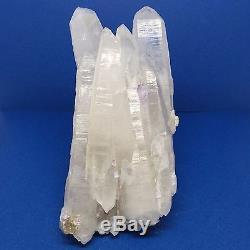 Très Rare X-large Lémurien Clair Quartz Cristal Laser Cluster & Améthyste We-0017