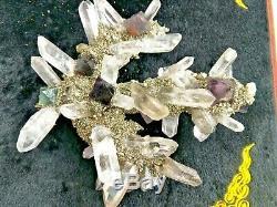 Trouver Fluorite Goethite Spécimen Minéral Grappe D'échantillons Quartz Crystal Healing