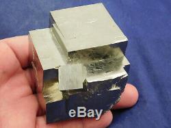 Un Énorme! Très Belle 100% Naturel Étagé Pyrite Cube De Cristal Cluster! Espagne 584gr