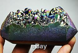 Un Tuyau De Fumée À La Mode! Couleur D'ange Arc-en-ciel Aura Cristal Cluster Pour Fumeur