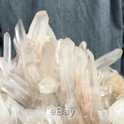 Unique Rare Feng Shui Cluster Extra Large Avec Quartz De Cristal Rose 3.221 KG